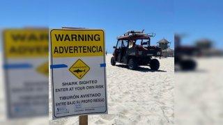 Shark Sign in Coronado Beach