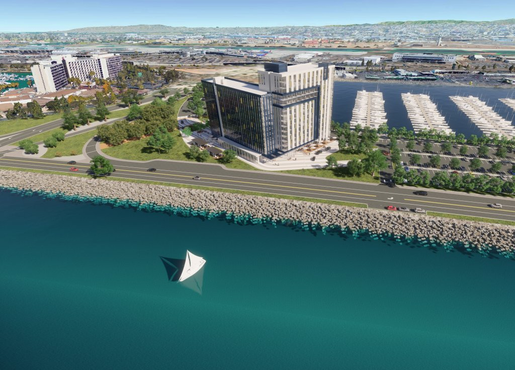 Sunroad HIE Hotel Partners' proposed hotel on Harbor Island
