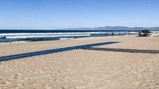 New access mat will be unrolled near the Venice Boulevard beach parking lot.