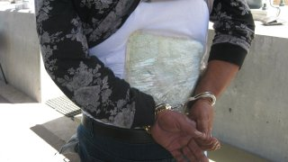 U.S. Border Patrol agents found a package of fentanyl taped to a man's back at an immigration checkpoint in Pine Valley on Tuesday, May 11, 2021.