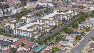 Renderings for the mixed-use development in Poway.