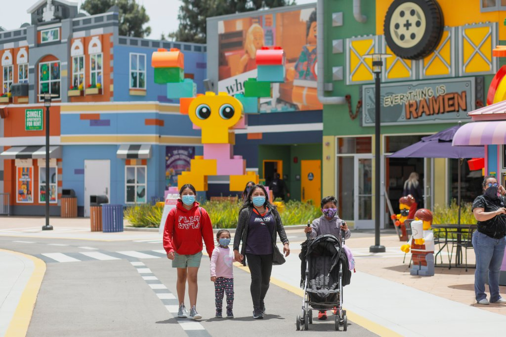Lego Movie World photographed on Thursday, May 20, 2021.(Photo by Sandy Huffaker)