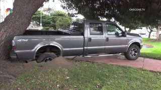 Ford truck involved in Point Loma police chase.