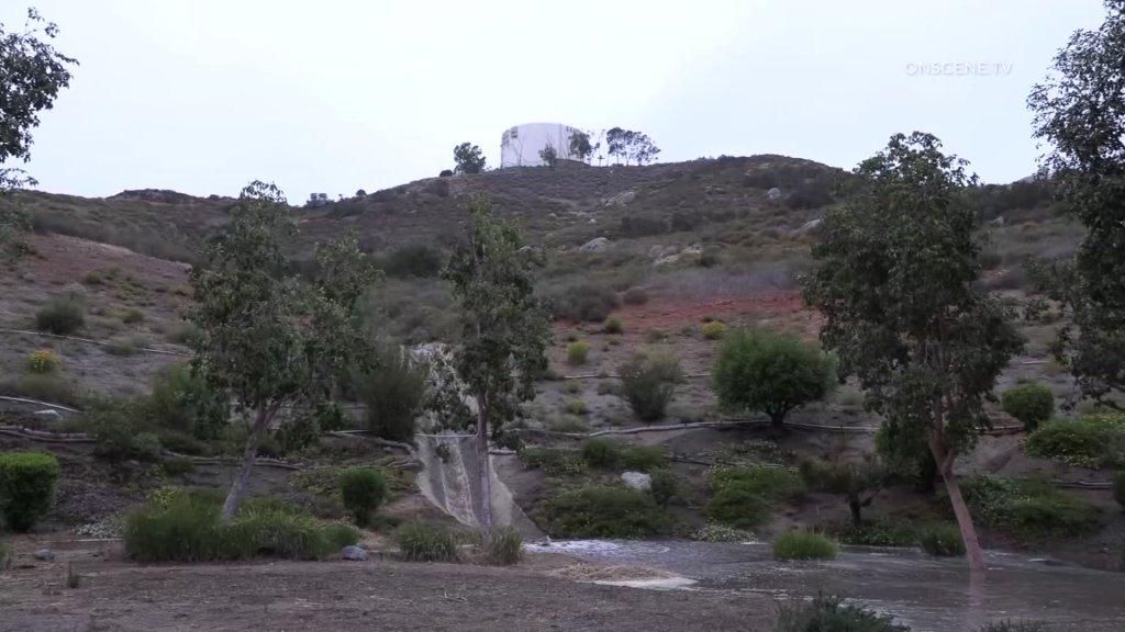 Rancho San Diego Water Tower flooding