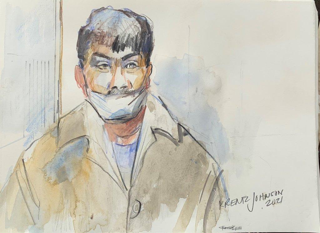 Hurtado courtroom sketch