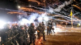 Police use chemical irritants and crowd control munitions during demonstrations