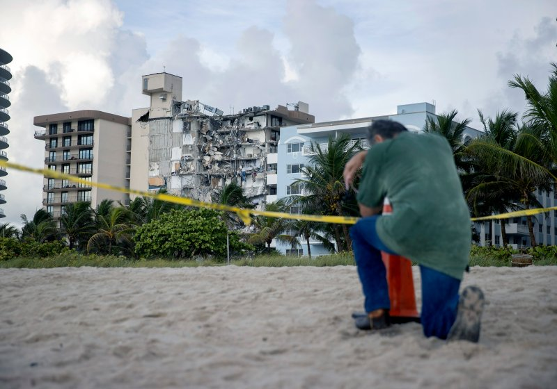 Pictures Show Aftermath of Miami Beach Condo Building Collapse