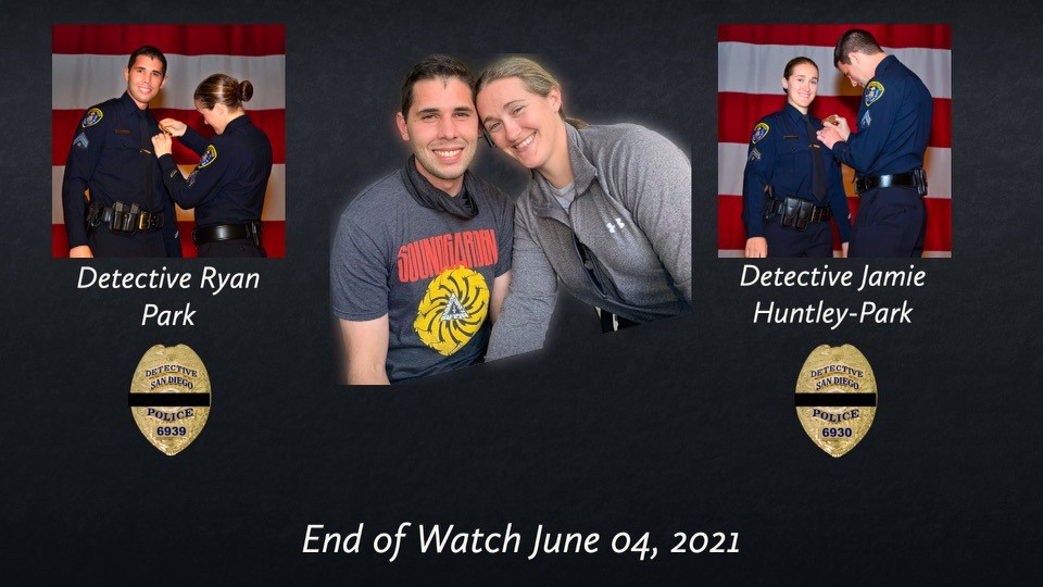 Photo provided by police of the two detectives killed in the fatal crash