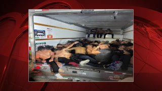 Border Patrol agents investigating possible human smuggling Thursday in West Texas found 33 people in sweltering conditions in the back of a box truck, according to U.S. Customs and Border Protection.