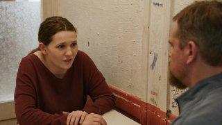 """Abigail Breslin, left, and Matt Damon in a scene from """"Stillwater."""""""