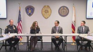 California Attorney General Rob Bonta with SDPD Chief David Nisleit and City Attorney Mara Elliott.