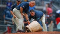 Padres Doubleheader Halted After Win and Rain