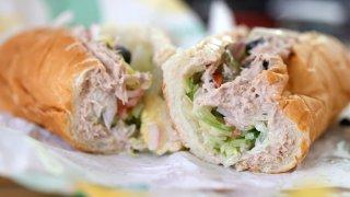 A tuna sandwich from Subway