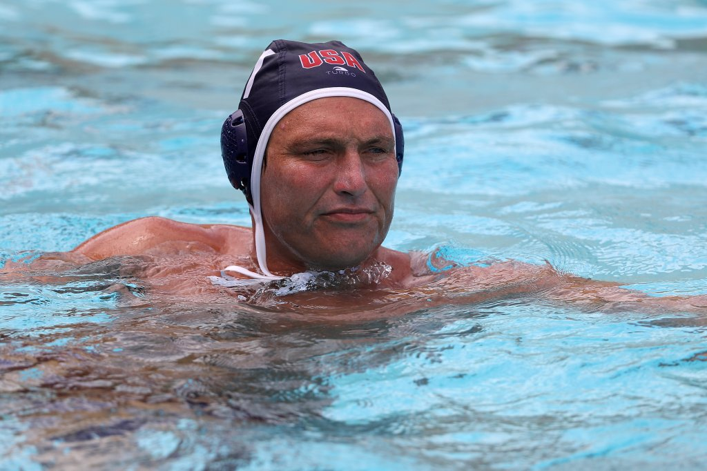 Jesse Smith of the United States Men's Waterpolo Olympic Team on July 8, 2021 in Newport, California.