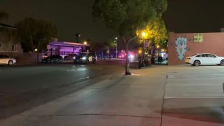 The San Diego Police Department respond to a noise complaint that turned into a shots fired and armed robbery investigation in Normal Heights on Friday, July 2, 2021.