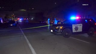 Law enforcement respond to the scene of a fatal pedestrian crash in Lemon Grove.