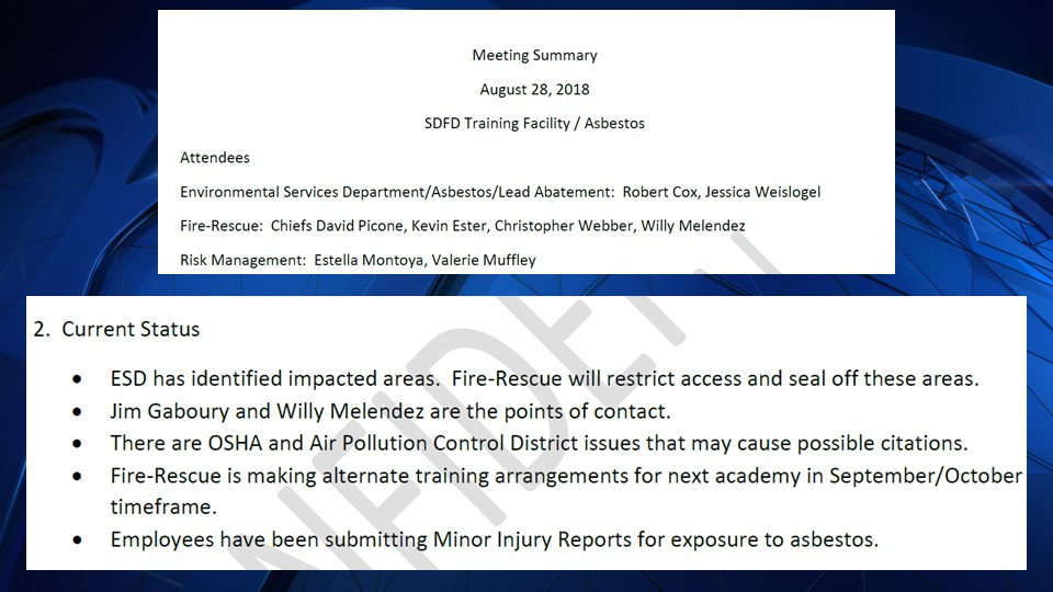 """NBC7 obtained a memo from an August 28, 2018 meeting that shows the City of San Diego was aware of """"issues that may cause possible citations."""""""