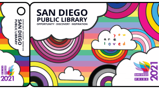 San Diego Public Library's 2021 winner of its Pride library card design contest. Clara, a local teenager, won this year's contest.