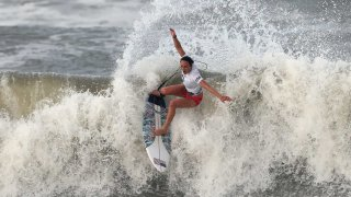 Carissa Moore on the waves