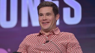 """Adam Devine speaks in HBO's """"The Righteous Gemstones"""" panel at the Television Critics Association Summer Press Tour on Wednesday, July 24, 2019, in Beverly Hills, Calif."""