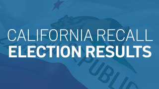 "Photo illo that says ""California Recall Election Results"""