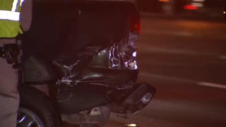 A man died after a rollover crash on I-5 near Old Town. He was struck by an oncoming vehicle after he got out of his truck, CHP said.