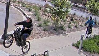 UC San Diego police say this is a photo of the accomplice and the shooter (from left)