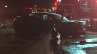 A man was killed and another was injured on Sunday, Sept. 12, 2021 following a car crash on I-15 in Fallbrook.