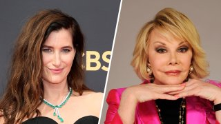 Kathryn Hahn, left, and Joan Rivers, right.