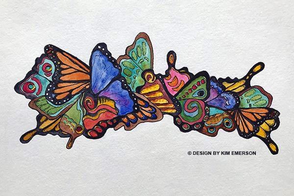 Butterfly Mural Design