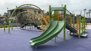 J Street Mini Park In stockton after renovations