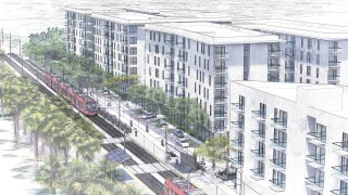 An artist's rendering of what Palm City Village will look like upon completion.