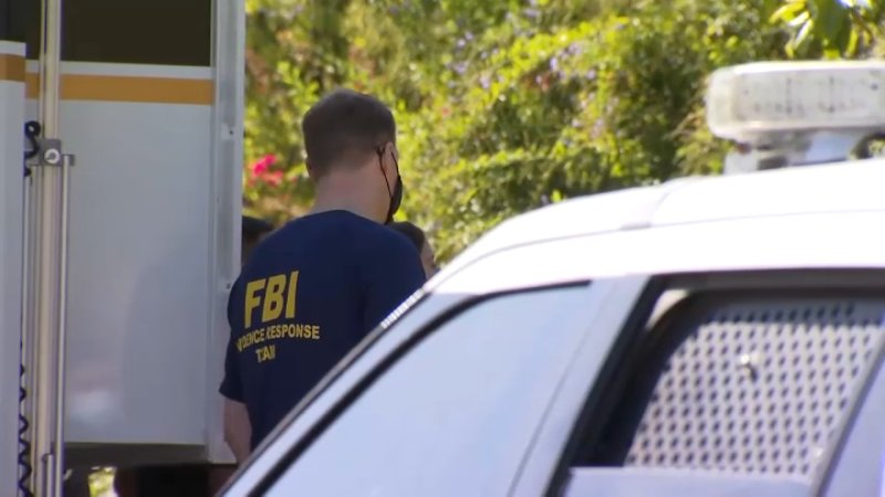 PHOTOS: Law Enforcement, Supporters at Millete House Following Husband's Arrest in Missing Wife's Case