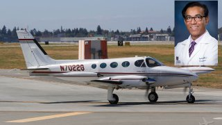 Dr. Saguta Das and his Cessna C340