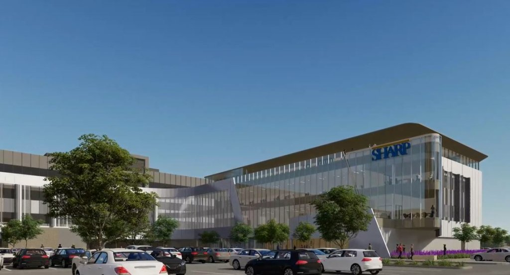 Renderings of the Prebys Innovation & Education Center at Sharp HealthCare