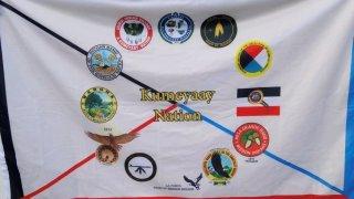 kumeyaay nation flag in national city