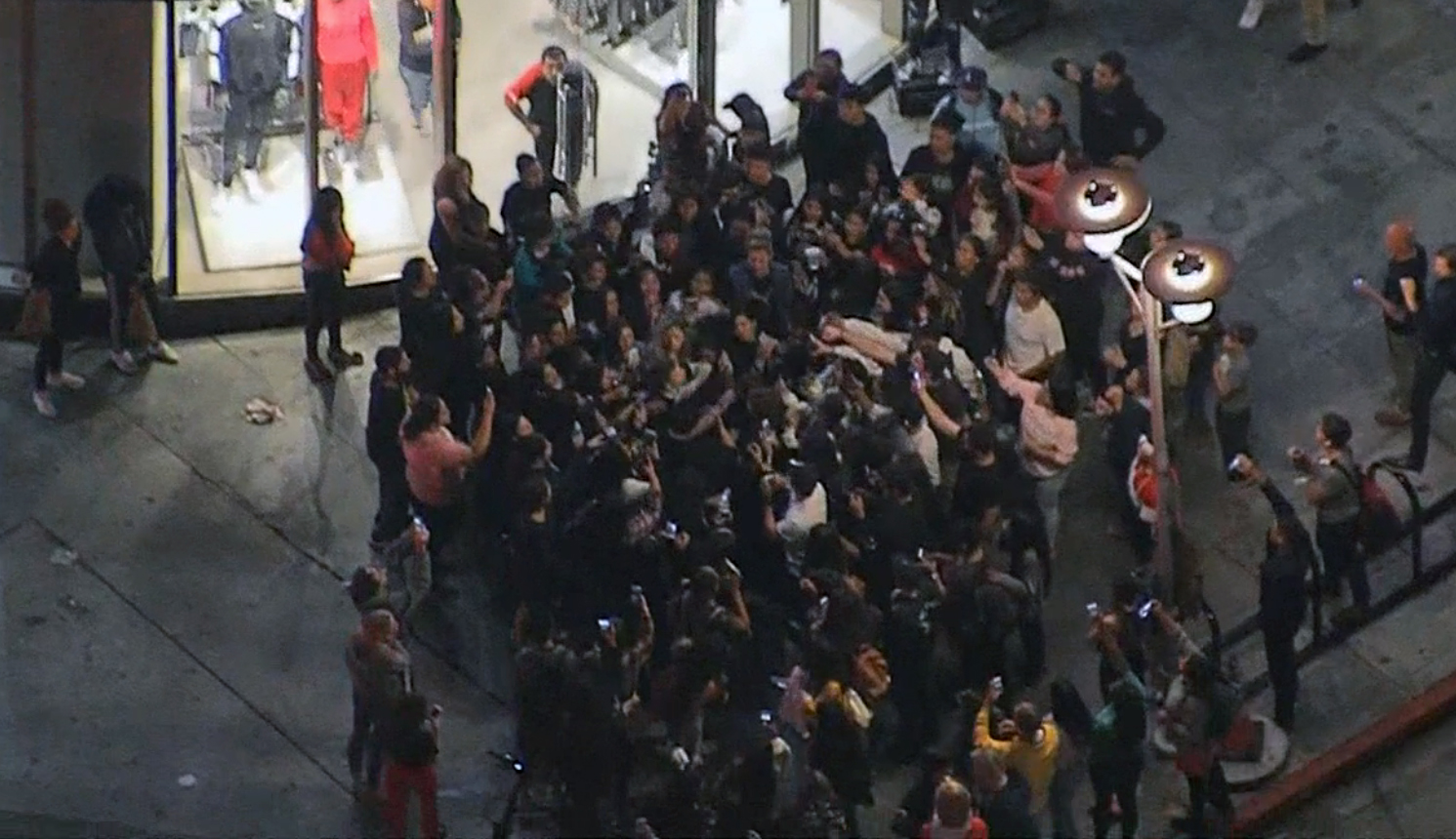 A crowd gathered Monday Oct. 8, 2018 in Hollywood to see rapper Phora.