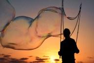 [UGCDGO-CJ-caption this]Bubbles at sunset