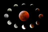 APTOPIX Lunar Eclipse Los Angeles