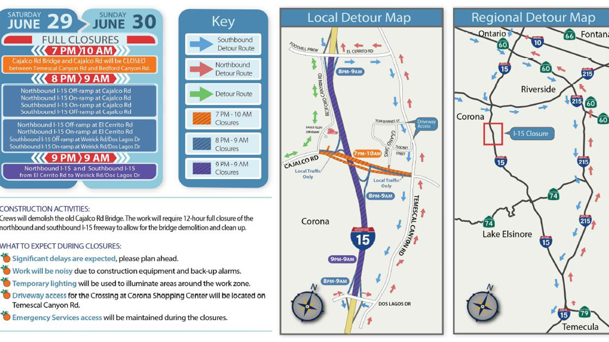 Plan Ahead: 15 Freeway in Corona to Close for 12 Hours
