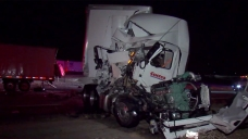 'It Was Like a Bomb': Big Rigs Collide on I-15<br />