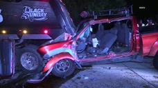 1 Dies in Pickup Collision With Dump Truck on I-805