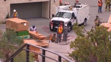 Gas Line Break Prompts Evacuation in Mission Valley