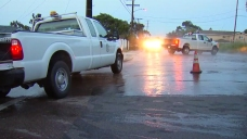 Ruptured Water Main Floods National City Streets Near Cemetery