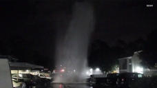 Driver Slams Into Hydrant in Oceanside
