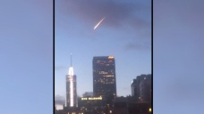 Meteor-Like Object Over Downtown LA Turns Out to be Red Bull Stunt