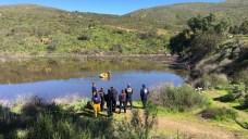 Unoccupied Car Submerged in Upper Otay Reservoir