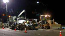 Water Main Break Shuts Down Busy Santee Intersection