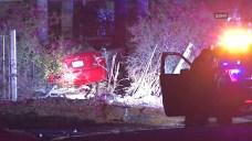 PD: Driver Shot in Head Before Crashing Near Escondido Home