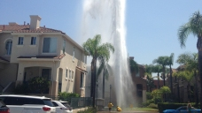 Massive Geyser Floods Parking Lot in Mission Valley